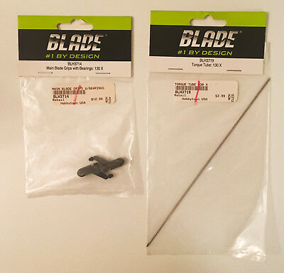BLH3714 Horizon Hobby Blade Main Blade Grips w// Bearings Fits 130 X New In Pack
