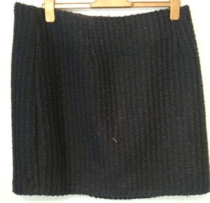 Monsoon-Navy-Isra-Boucle-Tweed-Short-Skirt-Size-22-Bnwt-Navy-Blue-Black