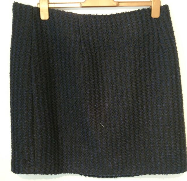 Monsoon Navy Isra Boucle Tweed Short Skirt Size 22 Bnwt Navy Blue Black