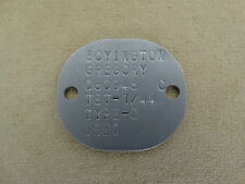 USMC USN US Navy Dog Tag ID Disks Your Name ! Erkennungsmarke VMF-214 WK2 WWII