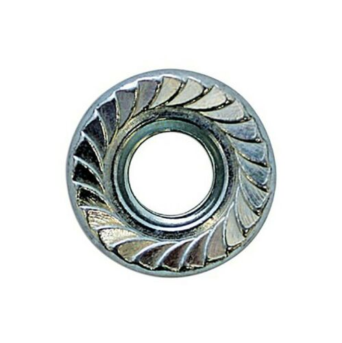 M6 6mm Serrated Flange Nuts DIN 933 Bright Zinc Plated Top Quality Connect 31367