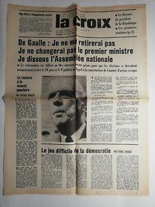 N259-La-Une-Du-Journal-La-croix-31-mai-1968-De-Gaulle-dissous-assemblee-national