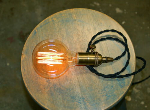 G30 Size LOT: 4 Edison Globe Light Bulbs 30 Watt Lamp Vintage Wound Filament