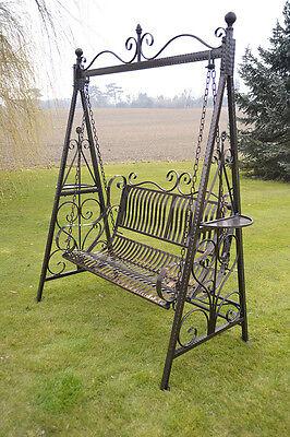 Versailles Style Garden Swing Seat in Antique Bronze Finish-