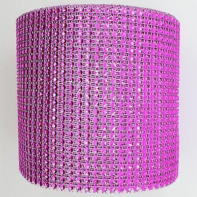 "4.75"" x 10 YARDS DIAMOND MESH WRAP ROLL CRYSTAL RHINESTONE SPARKLE BLING RIBBON"