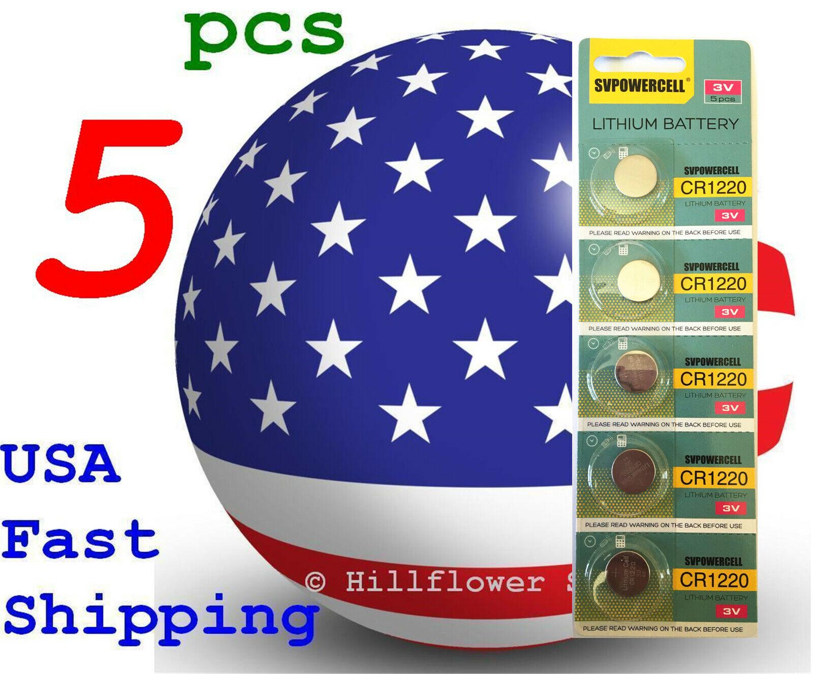 5 pcs CR1220 1220 BR1220 LM1220 Card 3V Super Quality Lithium Battery