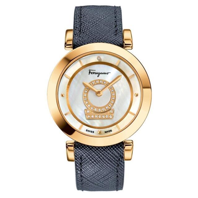 Salvatore Ferragamo Women s FQ4060013 Minuetto Gold IP Steel DIAMONDS Watch 0d3cf43f2a