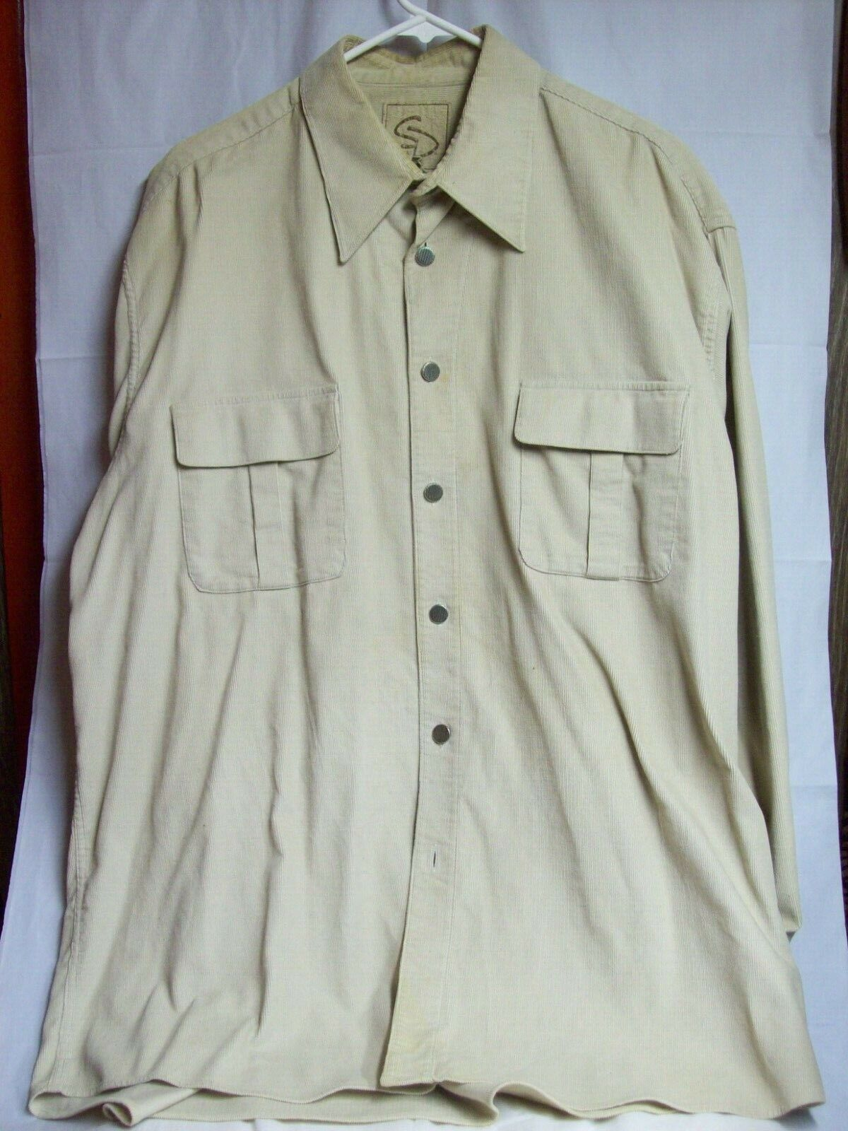 Vintage Mens Western Cotton Corduroy Overshirt XL… - image 3