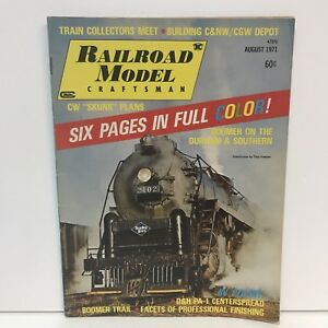 Railroad-Model-Craftsman-Magazine-Back-Issue-August-1971-VTG-D-amp-H-PA-Centerspread
