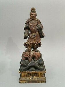 Statuette-Bishamonten-Japon-Periode-Edo