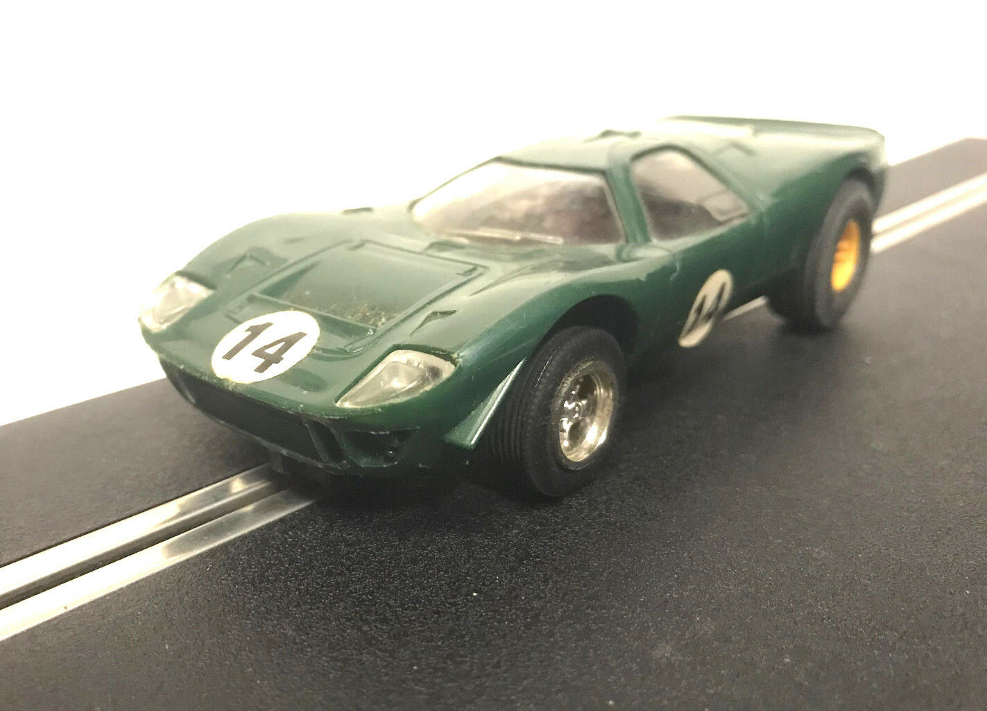 Scalextric C15 Mirage Ford Green Vintage Slot Car