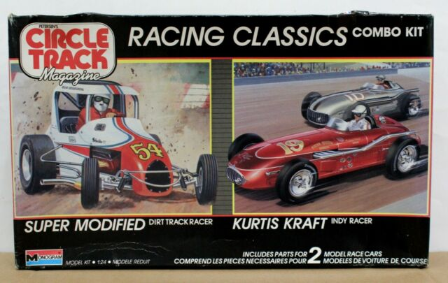 Monogram 6146 Combo Kit Super Modified Dirt Track & Kurtis Kraft Indy Racer 1:24