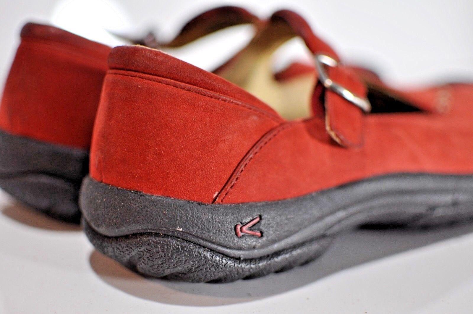 Keen Mujeres De Cuero Rojo Sin Cordones Cordones Cordones Correa Zapatos Talla 8.5  sorteos de estadio