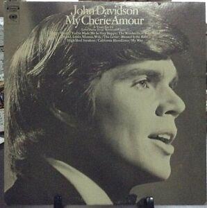 JOHN-DAVIDSON-My-Cherie-Amour-Album-Released-1969-Vinyl-Record-Collection-USA