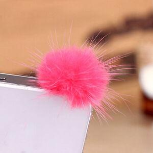 Top-Rabbit-Fur-Ball-Earphone-Ear-Cap-Anti-Dust-Plug-Cover-3-5mm-For-Cell-Phone