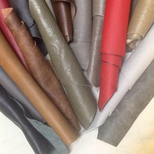 Leather Off Cuts  Mixed  Big Beautiful pieces scraps Italian 1 kilos craft