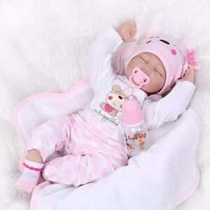 22 Bebe Reborn Baby Girl Doll Clothes Newborn Clothing Set Not
