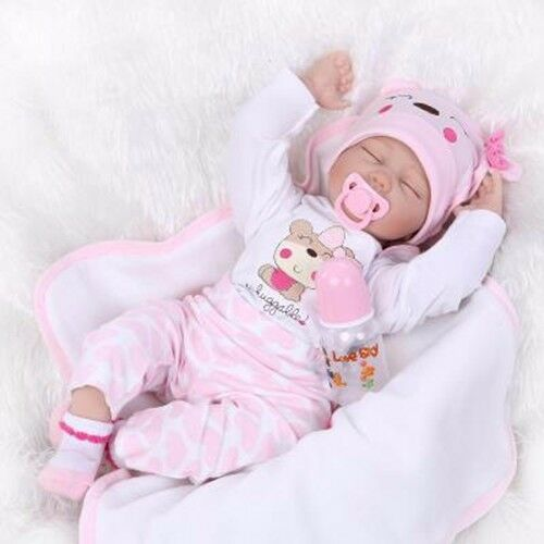 "22/"" Bebe Reborn Baby Girl Doll Clothes Newborn clothing set Not Included Doll US"