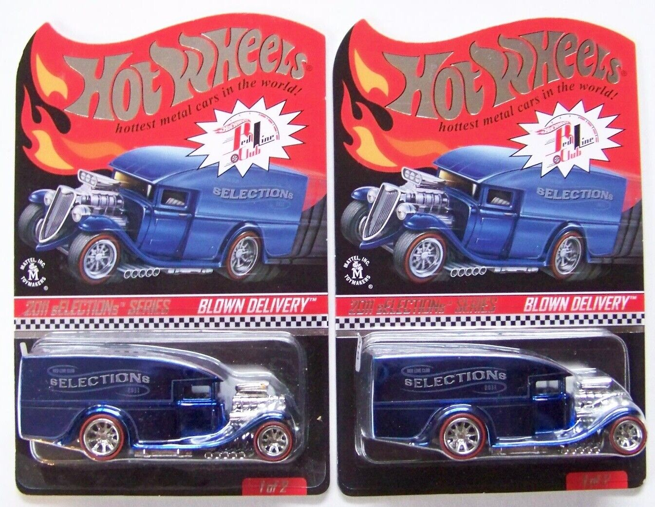 Hot Wheels Red Line Club RLC 2011 sELECTIONs Blown Delivery Choice Lot