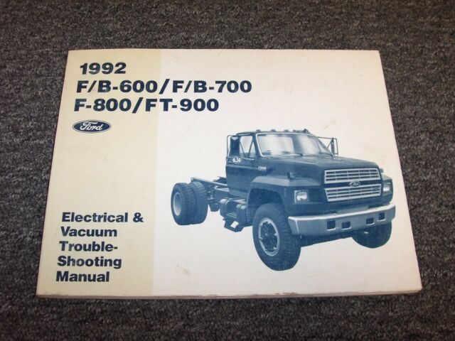 1992 Ford F600 F700 F800 Ft900 Truck Electrical Wiring