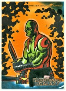 2014 GUARDIANS OF THE GALAXY MIKE LEGAN DRAX ARTIST SKETCH CARD 1/1