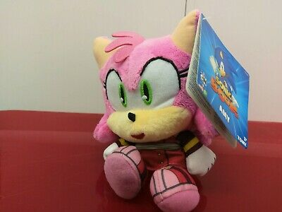 Tomy Sonic The Hedgehog Sonic Boom Amy Rose Big Head Plush New With Tags 7 53941225155 Ebay