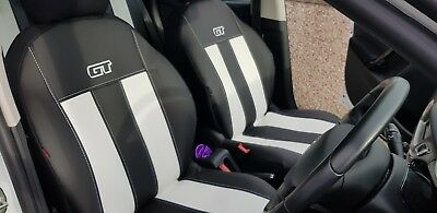 FORD FIESTA Mk7 5 Door 2008-2017 ECO LEATHER /& ALICANTE TAILORED SEAT COVERS