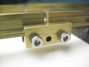 2-teilig 60//150-10 x Schienenverbinder aus Messing
