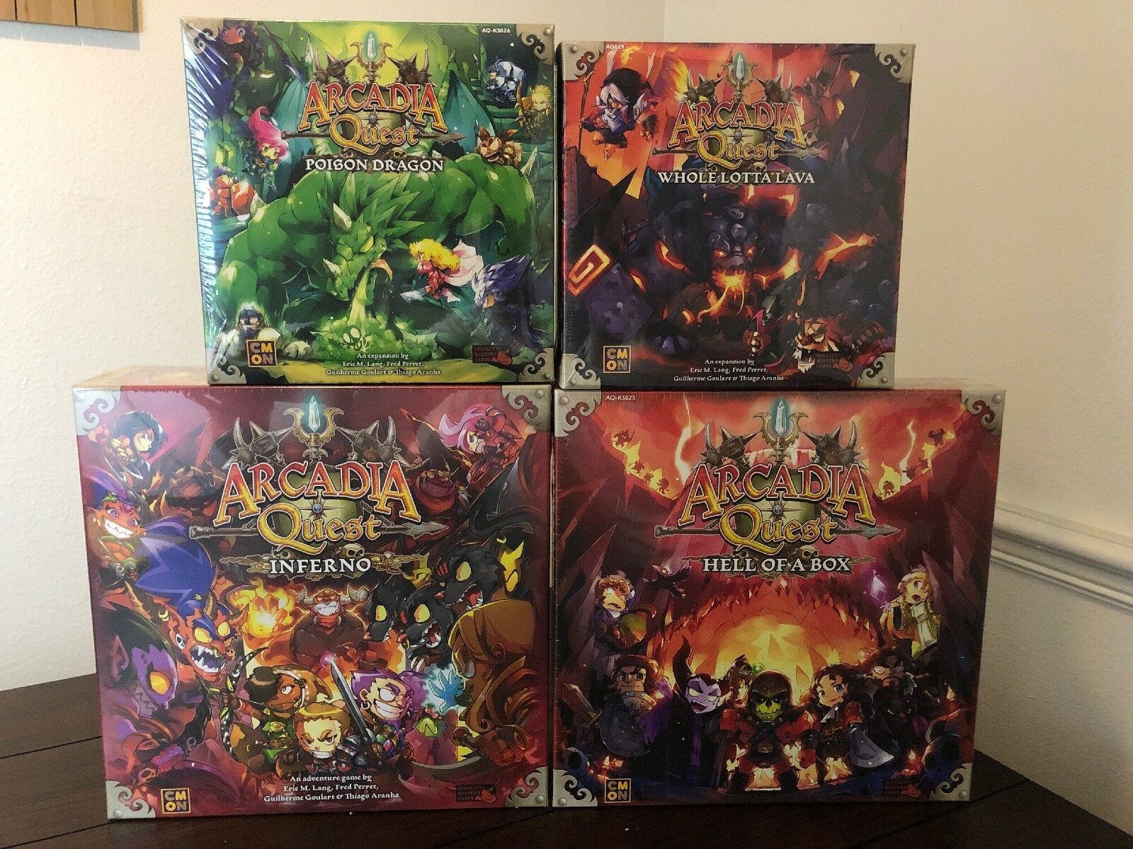 Arcadia Quest Inferno Kickstarter-infierno de una promesa-Kickstarter Exclusives cmon