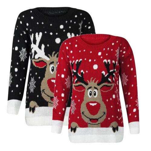 Mens Ladies Winter Christmas Jumper Reindeer Novelty Rudolf Elf Olaf Snow Santa