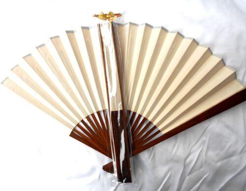 Fächer Holz weiß weiss 28x49cm Deko oder Bemalen Papier in Geschenkverpackung