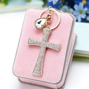 Fashion-Cross-Pendant-Keyring-Keychain-Bag-Rhinestone-Crystal-Jewelry