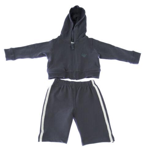 MARIE CHANTAL Baby Boy/'s Grey Hello Cotton Blend Sweatsuit $150 NEW