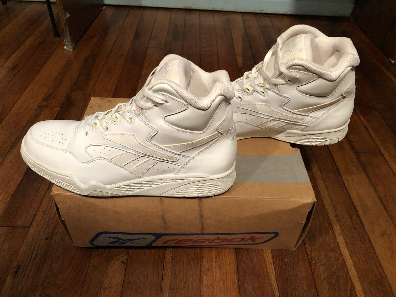 White And Natural Reebok Sneakers - image 5