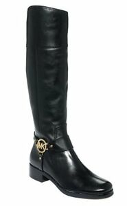Michael-Kors-Fulton-Tall-Riding-Boot-Women-039-s-Boots-Black