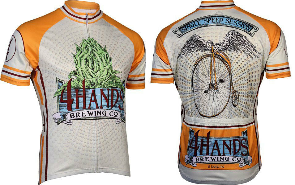 Microbrewery Men's 4  Hands Brewing  Single Speed Session Cycling Jersey 3XL  shop now