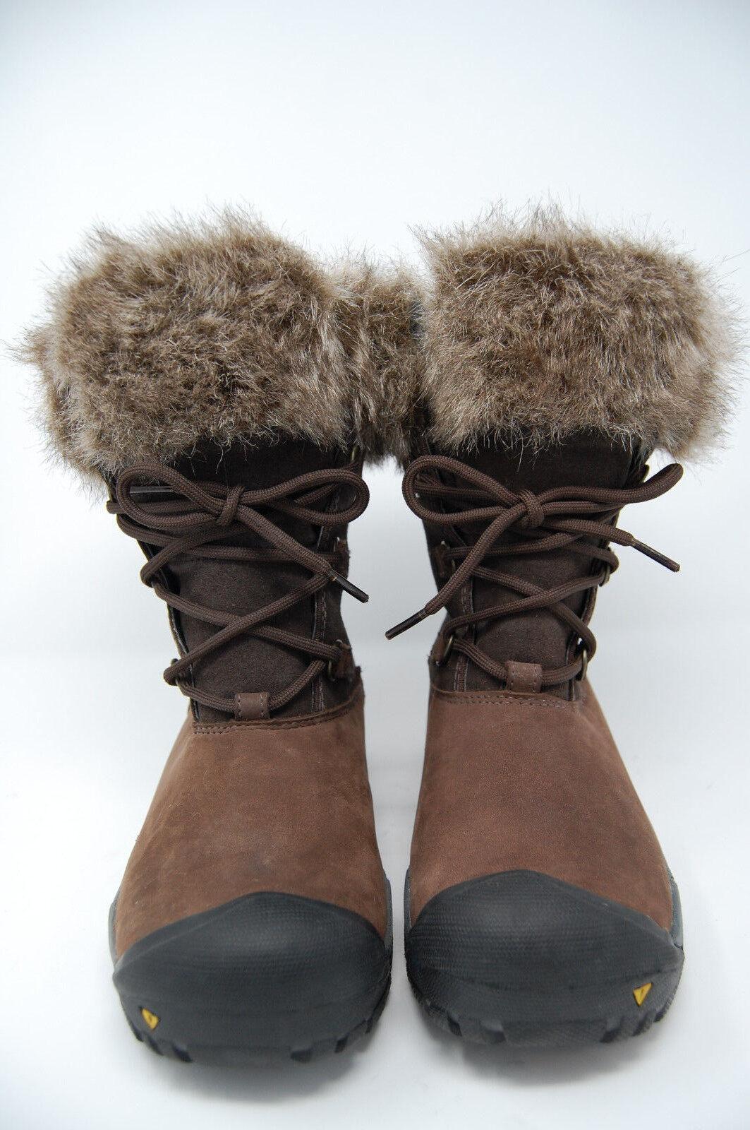 KEEN women Helena faux fur lined boot waterproof brown size 6.5  150