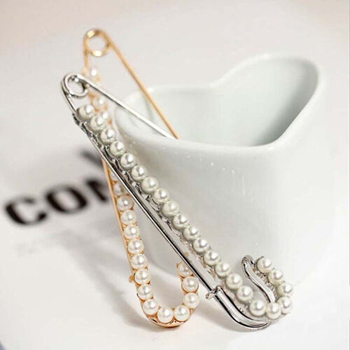 Silver Plated Rhinestone Brooch Jewelry Bouquet Large Safety Pin Gift Welcome Fashion Jewelry