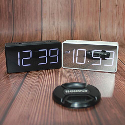 USB//Batterie Wecker Spiegel Echtzeit Anzeige Heim Verbrauchsmaterial LED