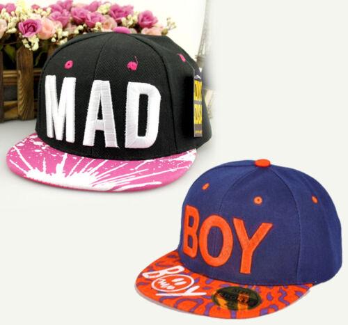 NEW Baby Boy Girl Kids Hat Hip-hop Peaked Visor Snapback Adjustable Baseball Cap