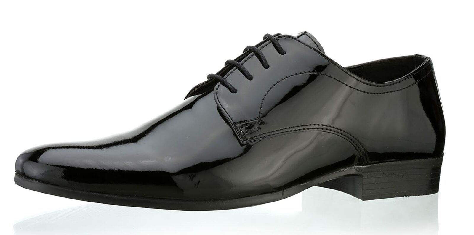 Red Tape southhill Herren Leder Patent Formelle Schuhe schwarz