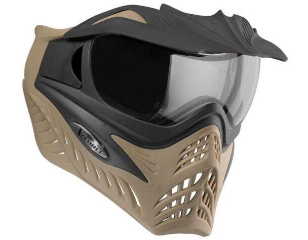 Vforce Parrilla Paintball Térmico Máscara Sf - Coyote   Carbón On Tostado