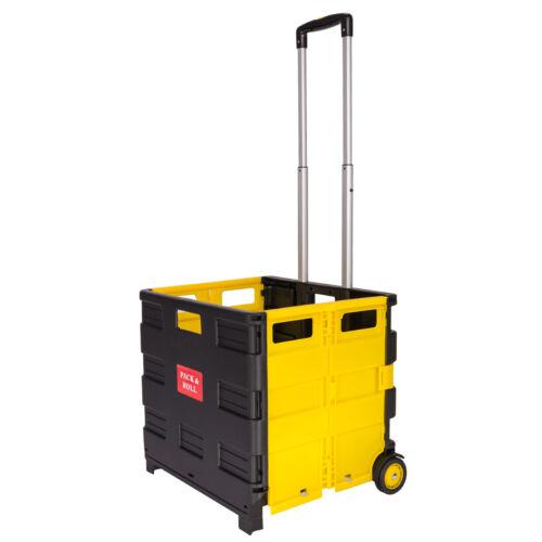 EinkaufstrolleyEinkaufswagenTrolleyKorbmit Rollenklappbar35kg