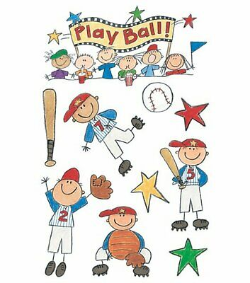 Me And My Big Ideas Minis Stickers Baseball Kids 4.5 X 6 Inches