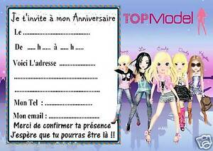 5 cartes invitations anniversaire top model 01 ebay 5 cartes invitations anniversaire top model 01 stopboris Image collections