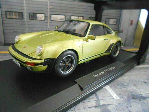 PORSCHE 911 930 Turbo 3.3 Liter Coupe hell grün met green Norev NEU 1:18