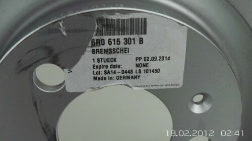 original Bremsscheiben Scheiben Bremse vorn Audi A1 VW Polo 6R Seat Ibiza 6J NEU