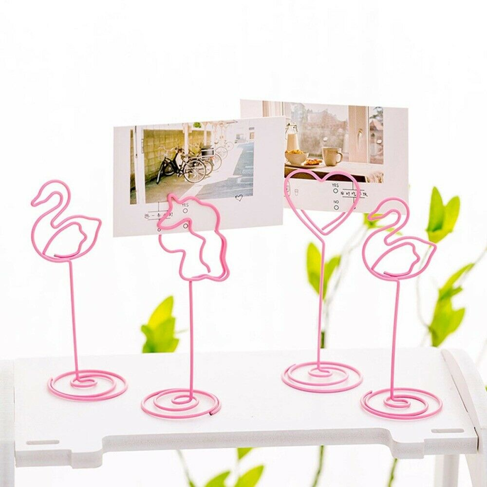 24pcs Metal Creative Note Card Clip for Office Home Wedding Party