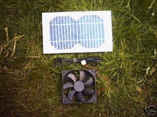 Solar Ventilation Kit, 3 W, 92 mm Ventilateur pour poulailler, Chien Kennel, clapier etc