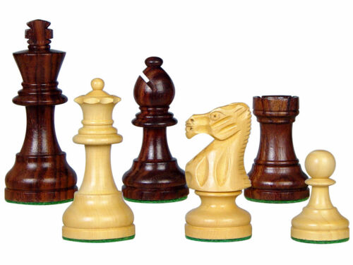 """Popular Staunton Rose Wood Chess Set Pieces 3/"""" Weighted 4 Queens House of Chess"""